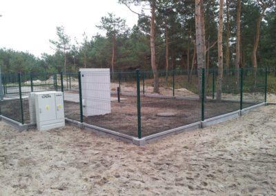 ogrodzenie panelowe na podmurówce prefabrykowanej