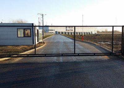 brama przesuwna - wypełnienie panel