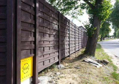 ogrodzenie betonowe - wzór deska